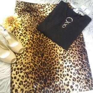 Sale! BOGO 50% OFF! New Leopard Pencil Skirt